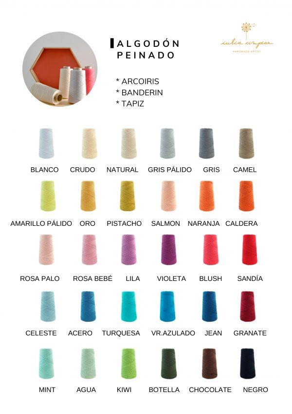 colores algodón peinado