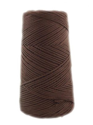 algodón peinado marrón choco